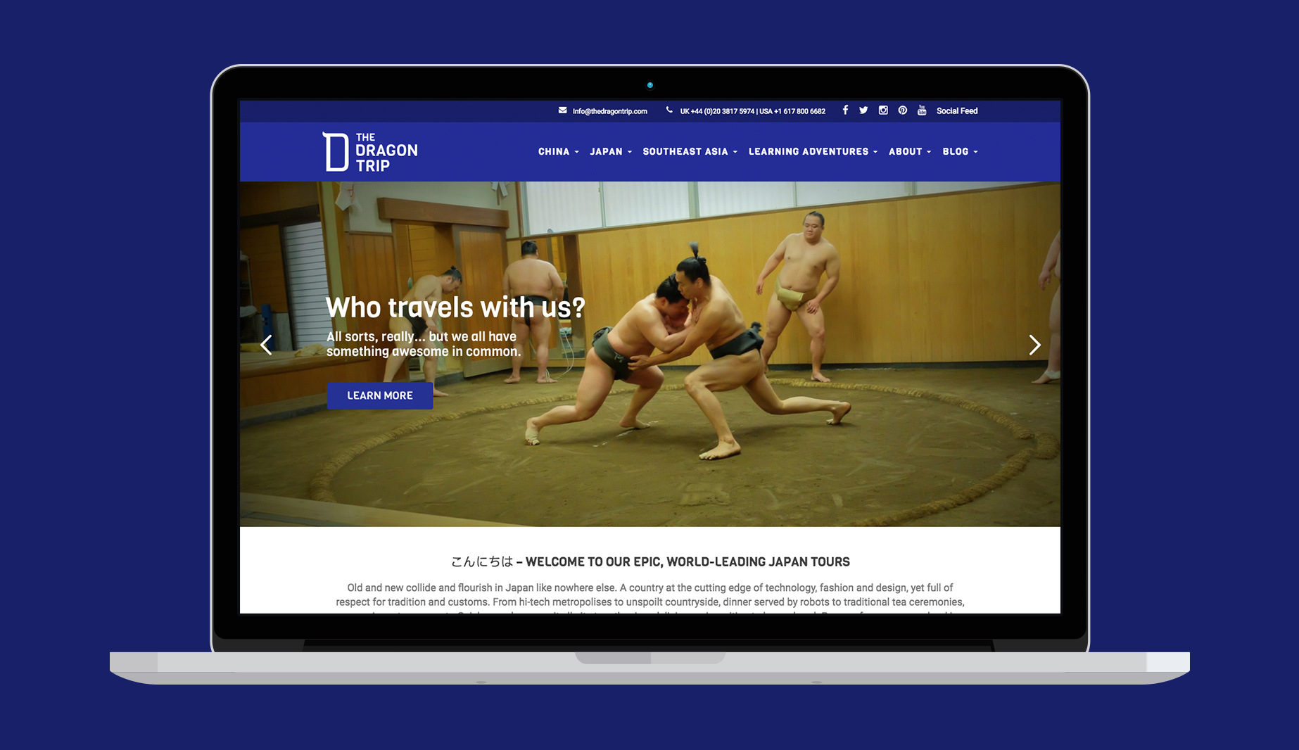 The Dragon Trip website design and build