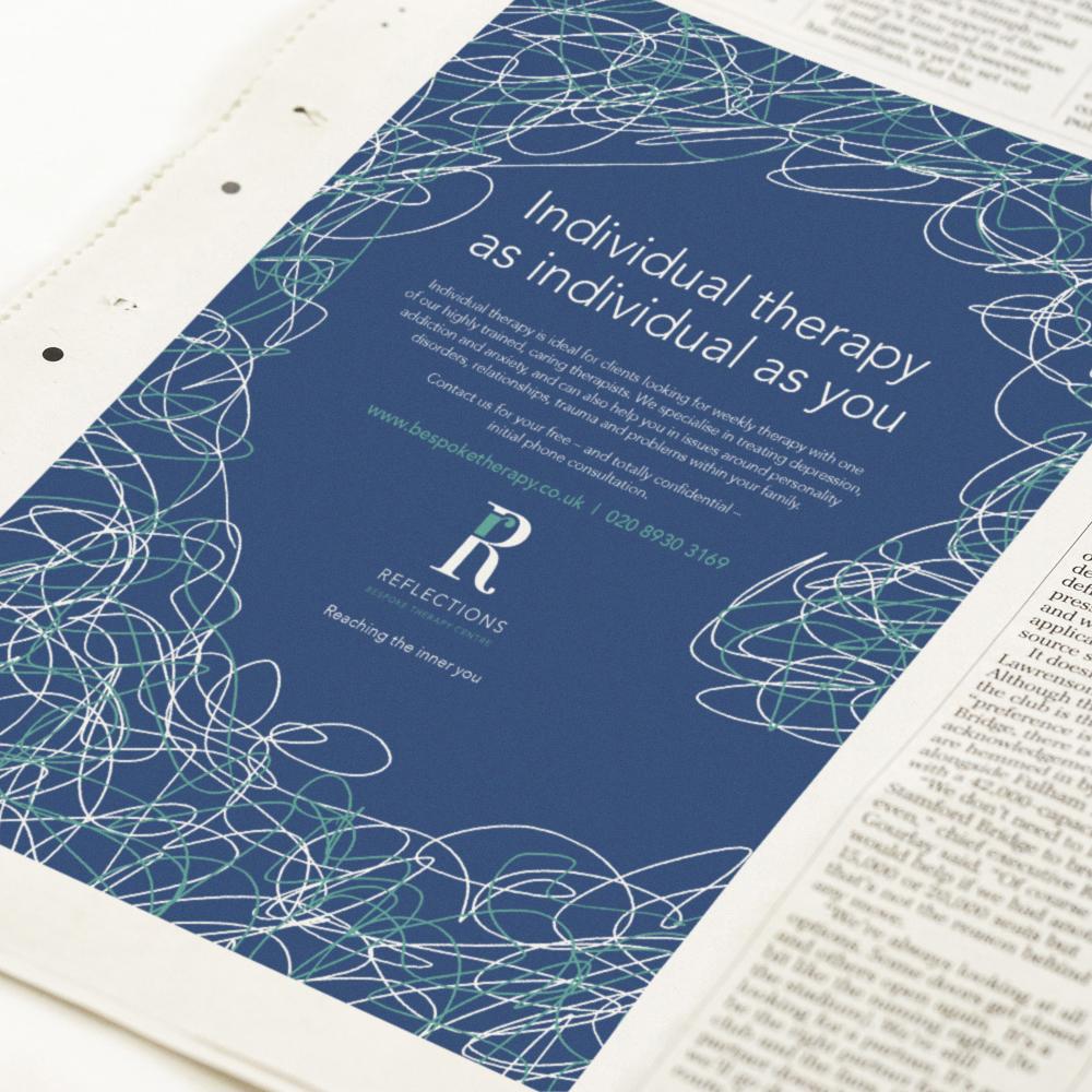 Press advertising design and artwork