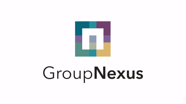 GroupNexus logo - business to business branding